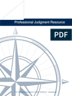 Professional Judgment Resource