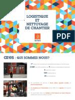 Ares BTP Logistique Et Nettoyage de Chantier Plaquette Commerciale