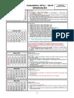 Calendario Escolar Graduacao 2019