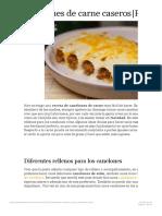 Canelones de carne caseros|Receta fáciil | Receta de Sergio
