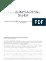 DS_N_024-2016-EM RSSOM - Reglamento de Seguridad y Salud Ocupacional en Minería.pdf