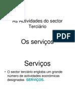 Serviços e Turismo