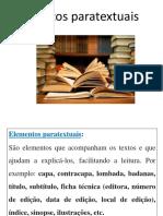 Elementos Paratextuais Do Livro