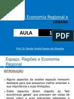 Aula 1. Espaço, Regiões e Economia Regional