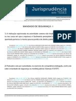 Jurisprudência em teses 43 - Mandado de Segurança I.pdf