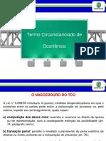 TERMO CIRCUNSTANCIADO DE OCORRÊNCIA Slides Tco Cfp 2018