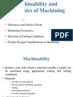 5 Machinability and Machining Economics