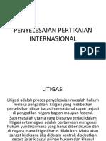 PENYELESAIAN PERTIKAIAN INTERNASIONAL