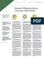 El Nuevo Gabinete Ministerial, Su Perfil y Los Retos Que Enfrentará