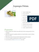 Chickpea Asparagus Frittata