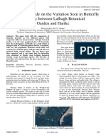 Comparative Study on the Variation Seen in Butterfly  Diversity between Lalbagh Botanical  Garden and Harike