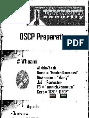 Oscp Preparation   Penetration Test   Vulnerability (Computing)