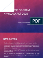 An Analysis of Gram Nyayalaya Act, 2008 FDR.pptx