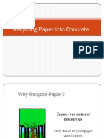 Recycling Paper Into Concrete