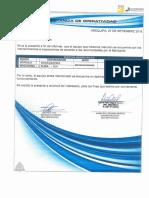 Certificado de Operatividad- Excavadora