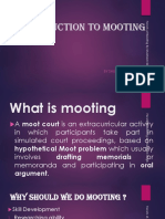 Introduction to Mooting