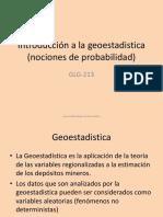 Introducción a La Geoestadistica (Nociones de Probabilidad)
