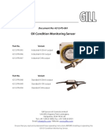 4212 PS 061 Iss2 User Manual GS Condition Oil Monitoring Sensor