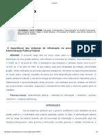 A Importância Dos Sistemas de Informação No Processo de Compras Da Administração Pública Federal
