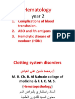 Hematology Yr2,Blood Group and Complications