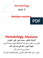 Year 2,Hematology, Multiple Myeloma, 2019