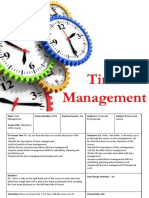Storyboard for time management