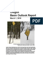 Oregon Basin outlook report