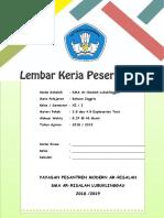 Borang Kontrak Latihan Murid FORM 4 TERKINI | Matter | Chemical