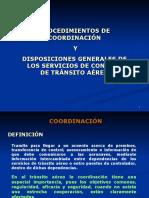 Coordinación y Disposiciones Generales
