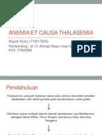 Anemia Et Causa Thalasemia