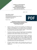 management letter