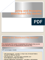 Configuring and Managing Distributed File System