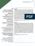 Actividad Electromiog Musculo Pectoral Banca