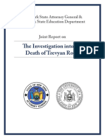 Joint Report on Trevyan Rowe Death