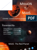 Presentation on Mission to Mars