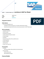 Overview of Functions in Sap for Retail