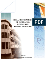 Reglamento Evaluacion Estudiantil 2015