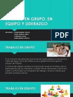 Diapositivas Trabajo en Grupo y Equipo