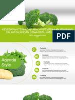 Fresh Green Broccoli PowerPoint Templates