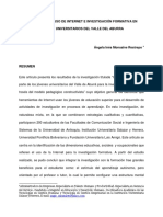 Artículo Relación Uso de Internet e Investigación Formativa