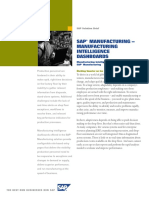 SAP Manufacturing Manufacturing Intelligence Dashboards