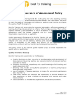 Quality Assurance of Assessment Policy