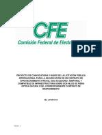 Prebases licitación fibra óptica (CFE)