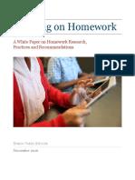 Homework white paper