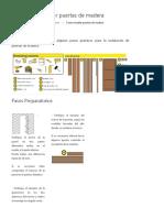Instalacion de puertas de Madera