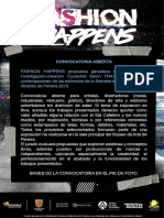 Convocatoria Fashion Happens