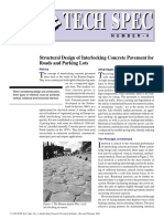 Structural Design of Interlocking Concrete Pavement for Roads and Parking Lots