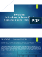 Ejercicios _ Indicadores de Rentabilidad Economica Costo Beneficio