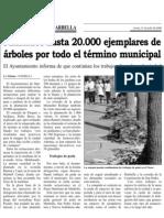 Plantas por todo el municipio La tribuna 21 de julio de 2008