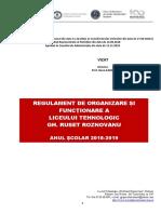 Regulament de Organizare - Liceul Gh. R Roznov. 2018-2019